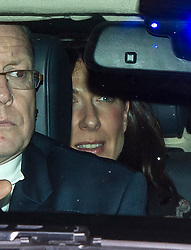 © Licensed to London News Pictures. 08/02/2016. London, UK. SAMANTHA CAMERON leaves the The Brewery in London after the annual Conservative Party Black & White Ball, a Conservative Party fundraiser.  Photo credit: Ben Cawthra/LNP