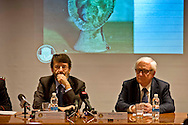 Roma 21 Gennaio 2015<br /> Presentato oggi il più grande recupero di reperti archeologici trafugati, mai realizzato nella storia, ad opera dei carabinieri del Comando Tutela patrimonio culturale: 5.361 pezzi, per un valore intorno ai 50 milioni di euro, che vanno dal 1.000 a.C. al II-III d.C. al termine di una complessa indagine internazionale coordinata dal procuratore aggiunto della Repubblica di Roma Giancarlo Capaldo. Il ministro dela cultura Dario Franceschini con il procuratore aggiunto della Repubblica di Roma Giancarlo Capaldo.<br /> Rome January 21, 2015<br /> Presented today the largest recovery of stolen archaeological finds ever made in history, by the Carabinieri of the Command it protects cultural patrimony: 5,361 pieces, worth around 50 million euro, ranging from 1,000 BC the II-III A.D. at the end of a complex international survey coordinated by the deputy prosecutor of the Republic of Rome Giancarlo Capaldo. The minister of the culture Dario Franceschini with the deputy prosecutor of the Republic of Rome Giancarlo Capaldo