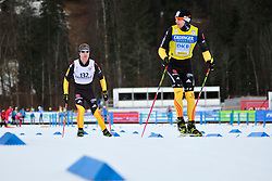 BREM Wilhelm Guide: GRIMM Florian, GER at the 2014 IPC Nordic Skiing World Cup Finals - Sprint