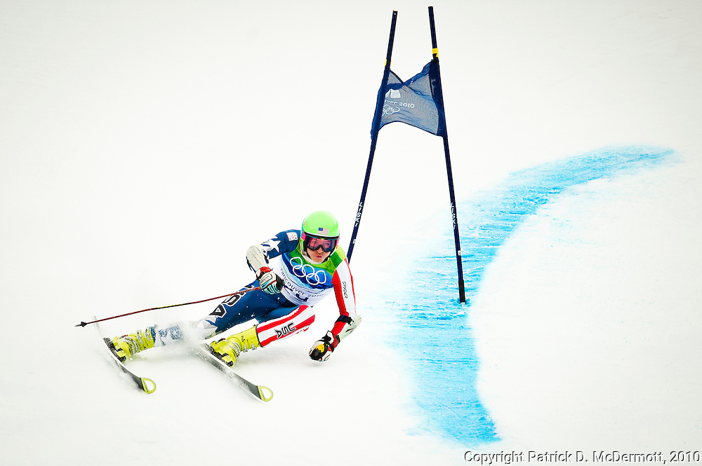 Tommy Ford of the United States competes during the Alpine Skiing Men's Giant Slalom on day 12 of the Vancouver 2010 Winter Olympics at Whistler Creekside on February 23, 2010 in Whistler, Canada.