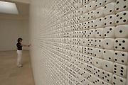 "VENICE, ITALY..50th Biennale of Venice.Polish Pavillion..""Alea iacta est"" by Stanislav Drozdz..(Photo by Heimo Aga)"