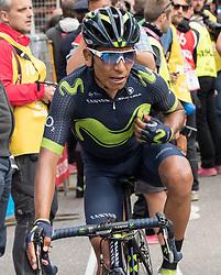 24.05.2017, Bormio, ITA, Giro d Italia 2017, 17. Etappe, Tirano nach Canazei, Val di Fassa, im Bild Nairo Quintana (COL, Movistar Team) // Nairo Quintana (COL, Movistar Team) during the 100th Giro d' Italia cycling race at Stage 17 from Tirano to Canazei, Val di Fassa, Italy on 2017/05/24. EXPA Pictures © 2017, PhotoCredit: EXPA/ R. Eisenbauer