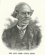 James Curtis Booth (1810-1888) American chemist, born in Philadelphia.  The first state geologist for Delaware.  Smelter and refiner to the US Mint (1849-1888). Engraving from 'Scientific American'  (New York, 9 June 1888).