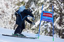 Preparing the course prior to the 9th Men's Giant Slalom race of FIS Alpine Ski World Cup 55th Vitranc Cup 2016, on March 4, 2016 in Kranjska Gora, Slovenia. Photo by Vid Ponikvar / Sportida