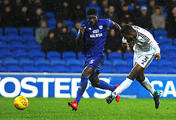 Ryan Sessegnon of Fulham scores his sides third goal - Mandatory by-line: Nizaam Jones/JMP- 26/12/2017 -  FOOTBALL - Cardiff City Stadium - Cardiff, Wales -  Cardiff City v Fulham - Sky Bet Championship
