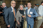 Republic Bank Chairman and CEO Steve Trager with Marena James and Aric Andrew at the 10-year anniversary celebration of Republic Bank's Private Banking and Business Banking divisions Wednesday, May 17, 2017, at the Speed Art Museum in Louisville, Ky. (Photo by Brian Bohannon)