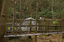 © London News Pictures. 24/03/2013 . Ascot, UK.  Police guard the entrance the home of Russian Oligarch Boris Berezovsky. Boris Berezovsky was found dead at him home yesterday (23/03/2013). Police are currently treating his death as unexplained.  Photo credit : Ben Cawthra/LNP