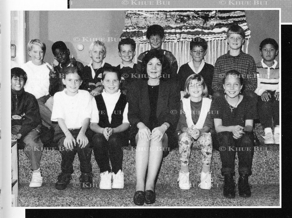 Tae-Hoon Kim, far right, is shown in his Grade Five class photo in the International School of Berne in Switzerland yearbook photo, Odyssey 1995.  Kim, whose real name is Kim Jong-un, is the youngest son of Kim Jong-il, leader of North Korea.