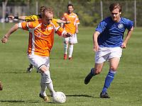 FODBOLD: Jonas Kallehauge (Helsingør) angriber under kampen i Danmarksserien, pulje 1, mellem Værløse Boldklub og Elite 3000 Helsingør den 29. maj 2010 på Værløse Stadion. Foto: Claus Birch