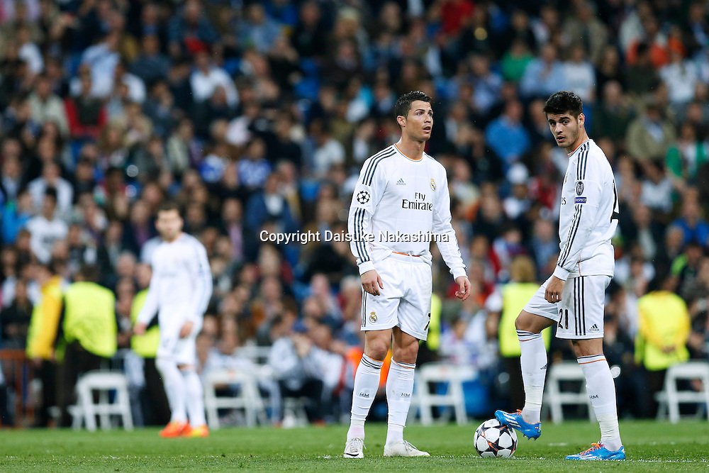 Cristiano Ronaldo, Alvaro Morata (Real), MARCH 18, 2014 - Football / Soccer : UEFA Champions League Round of 16, 2nd leg match between Real Madrid 3-1 FC Schalke 04 at Estadio Santiago Bernabeu in Madrid, Spain. (Photo by D.Nakashima/AFLO)