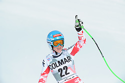 18-01-2015 AUT: Alpine Skiing World Cup, Cortina d Ampezzo<br /> 2nd placed Elisabeth Goergl of Austria reacts after her run of the ladies Downhill of the Cortina FIS Ski Alpine World Cup at the Olympia delle Tofane course in Cortina d Ampezzo, Italy <br /> <br /> ***NETHERLANDS ONLY***