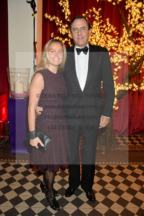 The 7th MARQUESS OF NORTHAMPTON and his 6th wife the MARCHIONESS OF NORTHAMPTON at the Sugarplum Dinner - The event was for the launch of Sugarplum Children, a new website and fundraising initiative for children who live with type 1 diabetes, and to raise money for JDRF (Juvenile Diabetes Research Foundation) held at One Mayfair, 13A North Audley Street, London on 20th November 2013.