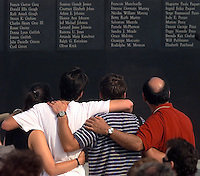TWA Flight 800 crashed 12 minutes after take off from JFK airport headed to Paris, on 17 July 1996. The wreckage was found 10 miles out to sea off the coast of Moriches, Long Island. Following an extensive investigation by the FBI and Transporation Saftey Board the wreckage was reconstructed in a warehouse in New York. A memorial service was held for relatives of those who died, on the beach opposite Fire Island.
