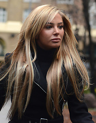 © Licensed to London News Pictures.09/01/2013. London, UK. Tulisa Contostavlos arrives to Southwark Crown Court where she faced charges of supplying class A drugs. Former X-Factor judge Tulisa and Mike GLC (Michael Coombs) are accused of supplying a class A drug to an investigative journalist. Photo credit : Peter Kollanyi/LNP