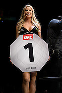 """GLASGOW, SCOTLAND, JULY 18, 2015: Kristie McKeon stands ready during """"UFC Fight Night 72: Bisping vs. Leites"""" inside the SSE Hydro Arena in Glasgow, Scotland (Martin McNeil for ESPN)"""