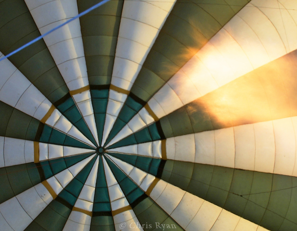 Inside a hot air balloon, Serengeti National Park, Tanzania