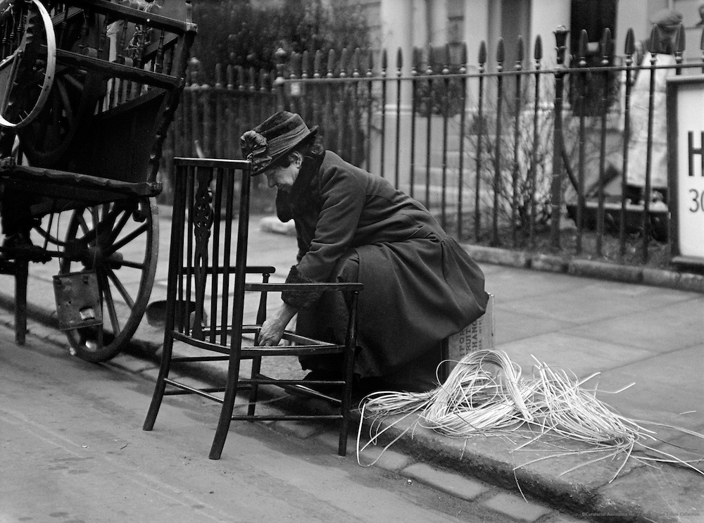 Chair Mending in a Street, London, 1933