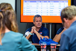 06-09-2018 NED: Press conference Netherlands, Doetinchem<br /> Press conference before the first match against Argentina / Coach Gido Vermeulen