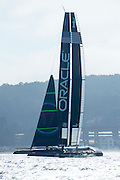 Oracle Team USA test their AC72 in San Francisco bay. 10/10/2012