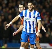 Brighton striker Tomer Hemed during the Sky Bet Championship match between Brighton and Hove Albion and Ipswich Town at the American Express Community Stadium, Brighton and Hove, England on 29 December 2015. Photo by Bennett Dean.