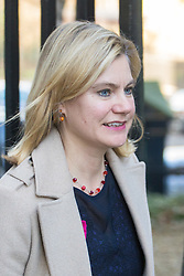 Downing Street, London, January 17th 2017. Education Secretary Justine Greening arrives back at 10 Downing Street for a second session of the cabinet meeting following British Prime Minister Theresa May's 'Clean Brexit' speech.