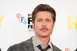 Brad Pitt attends the Fury photocall at The Corinthia Hotel - London