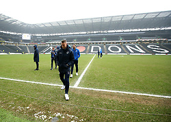 Lee Brown of Bristol Rovers arrives at StadiumMK for the match against Milton Keynes Dons - Mandatory by-line: Robbie Stephenson/JMP - 03/03/2018 - FOOTBALL - Stadium MK - Milton Keynes, England - Milton Keynes Dons v Bristol Rovers - Sky Bet League One