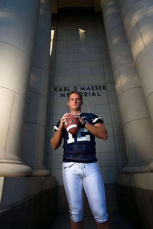 John Beck BYU quarterback portrait shoot on the BYU campus Maeser Building in Provo, Utah Wednesday August 2, 2006.  August Miller/Deseret Morning News