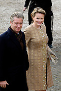 Hare Koninklijke Hoogheid Prinses Alexia, de jongste dochter van Zijne Koninklijke Hoogheid de Prins van Oranje en Hare Koninklijke Hoogheid Prinses M&aacute;xima, is zaterdag 19 november 2005 gedoopt in de Dorpskerk in Wassenaar. <br /> <br /> Baptism of Princess Alexia, the youngest daughter of Prince Willem-Alexander and Princess M&aacute;xima. Princess Alexia (born June 26, 2005) has been baptized in the church in Wassenaar. The ceremony was attended by The Dutch Royal Family and the parents of Princess M&aacute;xima.  <br /> <br /> Op de foto / On the photo:<br /> <br /> <br /> Zijne Koninklijke Hoogheid Prins Filip en Hare Koninklijke Hoogheid Prinses Mathilde van Belgi&euml; .<br /> <br /> His royal highness prince Filip and her royal highness princess Mathilde of Belgium.
