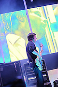 Radiohead performs at Verizon Wireless Amphitheater on May 11, 2008 in St. Louis.