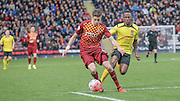 Reece Burke (Bradford) stops another Chesham attack during the The FA Cup match between Bradford City and Chesham FC at the Coral Windows Stadium, Bradford, England on 6 December 2015. Photo by Mark P Doherty.