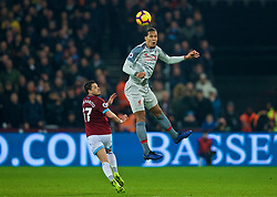LONDON, ENGLAND - Monday, February 4, 2019: Liverpool's Virgil van Dijk during the FA Premier League match between West Ham United FC and Liverpool FC at the London Stadium. (Pic by David Rawcliffe/Propaganda)
