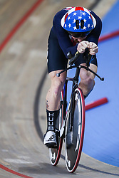 March 1, 2019 - Pruszkow, Poland - Ashton Lambie (USA) competes in the Men's Individual Pursuit Qualifying race on day three of the UCI Track Cycling World Championships held in the BGZ BNP Paribas Velodrome Arena on March 01, 2019 in Pruszkow, Poland. (Credit Image: © Foto Olimpik/NurPhoto via ZUMA Press)