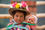 South America, Andes, Peru, Cusco, native girl