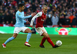 February 25, 2018 - London, England, United Kingdom - Arsenal's Jack Wilshere.during Carabao Cup Final match between Arsenal against Manchester City at Wembley stadium, London  England on 25 Feb 2018. (Credit Image: © Kieran Galvin/NurPhoto via ZUMA Press)