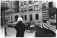 Women with hats, Broadway, Upper West Side, Street photography. 1980