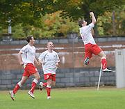 Stirling scorer Ross Forsyth celebrates - Stirling Albion v Dundee, IRN BRU Scottish League 1st Division, Forthbank Stadium, Stirling<br /> <br />  - © David Young<br /> ---<br /> email: david@davidyoungphoto.co.uk<br /> http://www.davidyoungphoto.co.uk