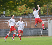 Stirling scorer Ross Forsyth celebrates - Stirling Albion v Dundee, IRN BRU Scottish League 1st Division, Forthbank Stadium, Stirling<br /> <br />  - &copy; David Young<br /> ---<br /> email: david@davidyoungphoto.co.uk<br /> http://www.davidyoungphoto.co.uk