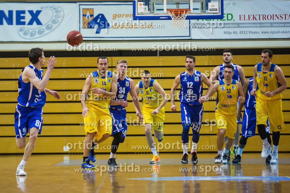 during basketball match between KK Sencur  GGD and KK Tajfun Sentjur for Spar cup 2016, on 16th of February , 2016 in Sencur, Sencur Sports hall, Slovenia. Photo by Grega Valancic / Sportida.com