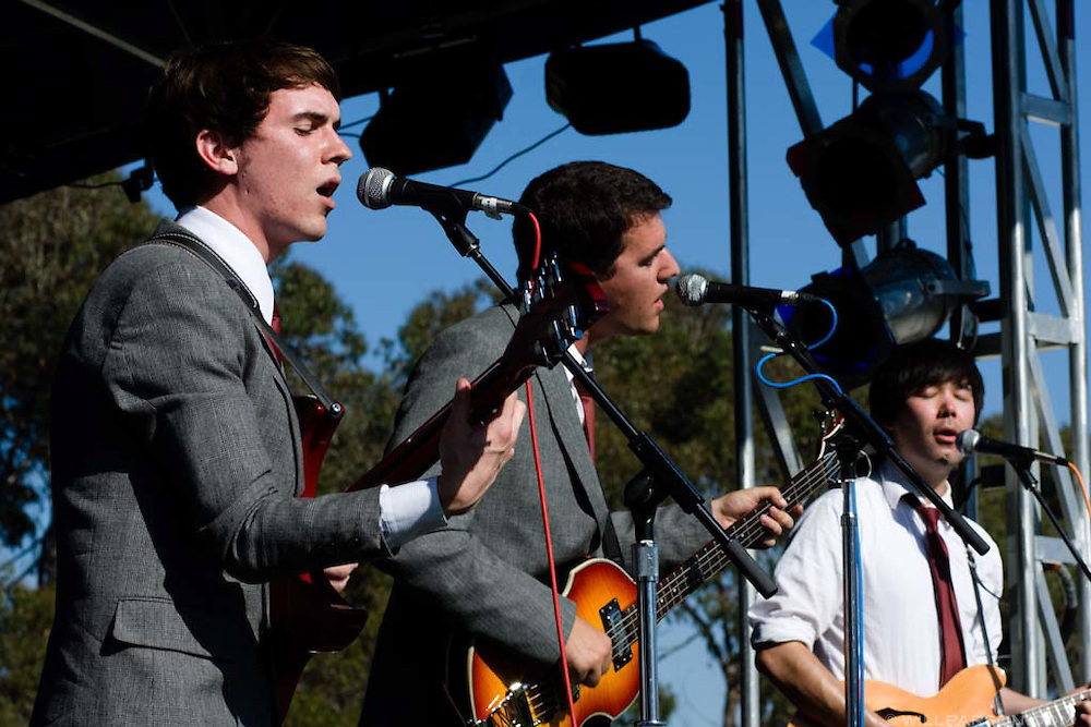 The Modlins performs during the Sungod Festival at UC San Diego in San Diego, California on May 16, 2008.