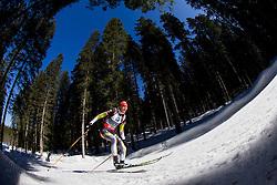 KUZMINA Anastasiya of Slovakia competes during Women 10 km Pursuit competition of the e.on IBU Biathlon World Cup on Saturday, March 8, 2014 in Pokljuka, Slovenia. Photo by Vid Ponikvar / Sportida