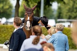 Werth Isabell, GER, Bella Rose 2, von der Leyen Ursula<br /> CHIO Aachen 2019<br /> Weltfest des Pferdesports<br /> © Hippo Foto - Stefan Lafrentz<br /> Werth Isabell, GER, Bella Rose 2, von der Leyen Ursula