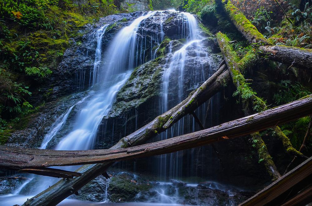 Cascade Falls, Orcas Island, Moran State Park, Orcas Island, Washington, US