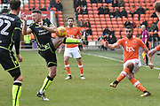 Blackpool Midfielder, Colin Daniel (23) crosses  during the EFL Sky Bet League 1 match between Blackpool and Bristol Rovers at Bloomfield Road, Blackpool, England on 13 January 2018. Photo by Mark Pollitt.