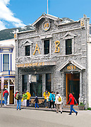 Alaska, Skagway the A B Building Arctic Brotherhood building was constructed in 1899. The face is made entirely of drifwood.