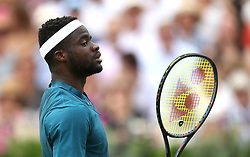 USA's Frances Tiafoe during day three of the Fever-Tree Championship at the Queens Club, London. PRESS ASSOCIATION Photo. Picture date: Wednesday June 20, 2018. See PA story TENNIS Queens. Photo credit should read: Steven Paston/PA Wire. RESTRICTIONS: Editorial use only, no commercial use without prior permission.