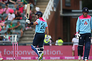 Joe Denly reaches his 50 during the One Day International match between South Africa and England at Bidvest Wanderers Stadium, Johannesburg, South Africa on 9 February 2020.