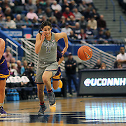 HARTFORD, CONNECTICUT- JANUARY 4: Kia Nurse #11 of the Connecticut Huskies in action during the UConn Huskies Vs East Carolina Pirates, NCAA Women's Basketball game on January 4th, 2017 at the XL Center, Hartford, Connecticut. (Photo by Tim Clayton/Corbis via Getty Images)