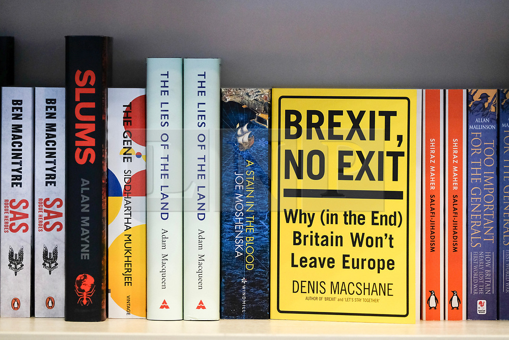 (c) Licensed to London News Pictures. <br /> 02/10/2017<br /> Manchester, UK<br /> <br /> Books are displayed in a stand at the Conservative Party Conference held over four days at the Manchester Central Convention Complex.<br /> <br /> Photo Credit: Ian Forsyth/LNP