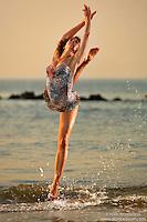 Dance As Art  New York City Photography Coney Island Ocean Series with dancer, Yukie Spruijt